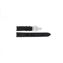 Seiko cinturino dell'orologio SNA741P2 / 7T62-0GE0 Pelle Nero 22mm + cuciture nero