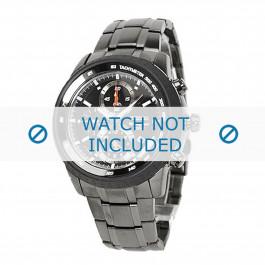 Seiko cinturino dell'orologio SNAB53P1 / 7T62-0HL0 / SNAB53J1 Metallo Grigio 24mm