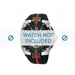Seiko cinturino dell'orologio 6G28 00P0 / SRK025P1 Gomma / plastica Nero