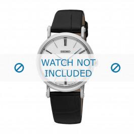 Seiko cinturino dell'orologio SXB431P1 / 7N89 0AY0 Pelle Nero 16mm