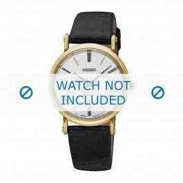 Seiko cinturino dell'orologio SXB432P1 / 7N89 0AY0 Pelle Nero 12mm
