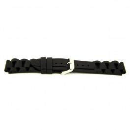 Cinturino per orologio Universale XI12 Silicone Nero 24mm