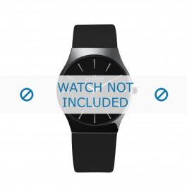 Skagen cinturino dell'orologio 233XLCLB Pelle Nero 20mm