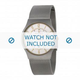 Skagen cinturino dell'orologio 233XLSGS / 233XLSS / 233XLSSB / 233XLSSD / 233XLSSM / 233XLSSB Metallo Argento 22mm