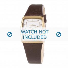 Skagen cinturino dell'orologio 380SGLM / 380SGLD / 380SGLD8A Pelle Marrone