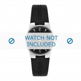 Skagen cinturino dell'orologio 433SSLB 433SSLC Pelle Nero 16mm + cuciture nero