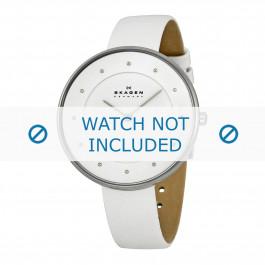 Skagen cinturino dell'orologio SKW2136 Pelle Bianco 14mm