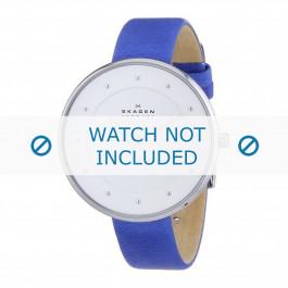 Cinturino per orologio Skagen SKW2172 Pelle Blu 14mm