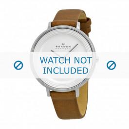 Cinturino per orologio Skagen SKW2214 Pelle Cognac 14mm