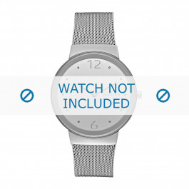 Skagen cinturino dell'orologio SKW2380 Metallo Argento 18mm