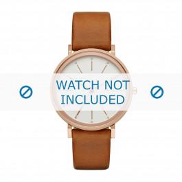 Skagen cinturino dell'orologio SKW2488 Pelle Cognac 16mm