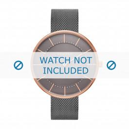 Skagen cinturino dell'orologio SKW2584 Metallo Grigio 16mm