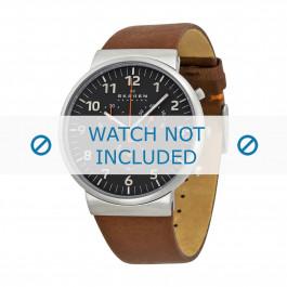 Cinturino per orologio Skagen SKW6099 Pelle Marrone 23mm