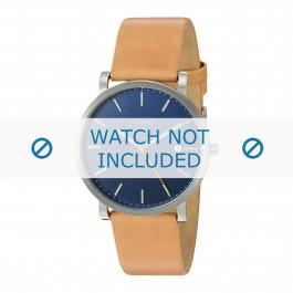 Skagen cinturino dell'orologio SKW6279 Pelle Cognac 22mm