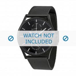 Skagen cinturino dell'orologio SKW6318 Metallo Nero 20mm