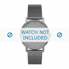 Skagen cinturino dell'orologio SKW6354 Metallo Grigio 20mm