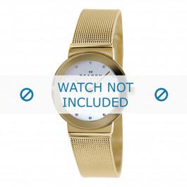 Cinturino per orologio Skagen 358SGGD Acciaio Placcato oro 14mm