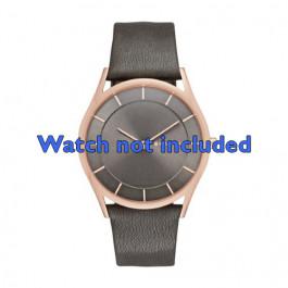 Cinturino per orologio Skagen SKW2346 Pelle Grigio antracite 20mm