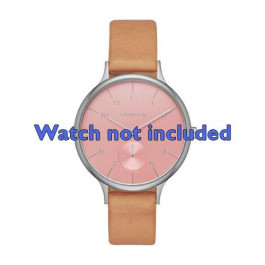 Skagen cinturino orologio SKW2406 Pelle Marrone 14mm