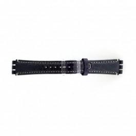 Cinturino per orologio Swatch (alt.) ES.IRON-2.05 Pelle Blu 19mm