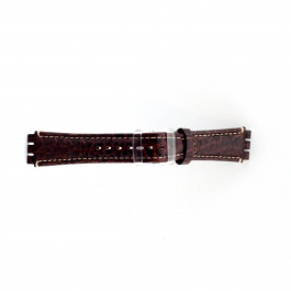 Cinturino per orologio Swatch (alt.) ES.IRON-2.02 Pelle Marrone 19mm