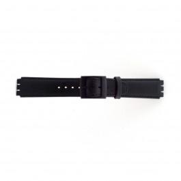 Cinturino per orologio Swatch (alt.) SC11.01 Pelle Nero 17mm