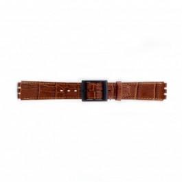 Cinturino per orologio Swatch (alt.) SC16.03 Pelle Marrone 16mm