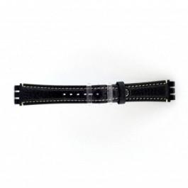 Cinturino per orologio Swatch (alt.) ES.IRON-3.05 Pelle Blu 19mm