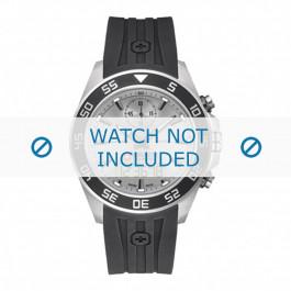 Cinturino per orologio Swiss Military Hanowa 06-4222.04 Gomma Nero 22mm
