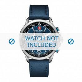 Cinturino per orologio Swiss Military Hanowa 06-4224.04.003 Pelle Blu 23mm