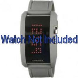 Diesel cinturino dell'orologio DZ7163 Silicone Grigio 24mm