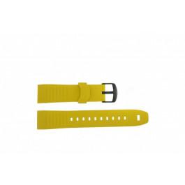Cinturino per orologio Timex TW2P44500 Gomma Giallo 22mm