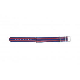 Cinturino per orologio Timex TW7C07100 Tessuto Blu 20mm