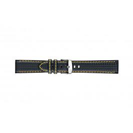 Morellato cinturino dell'orologio Biking U3586977897CR24 / PMU897BIKING24 Carbonio Nero 24mm + cuciture giallo