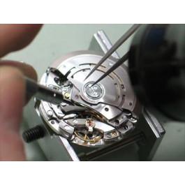 Sostituzione di piccoli meccanismi di orologi (che prima devono essere caricati)