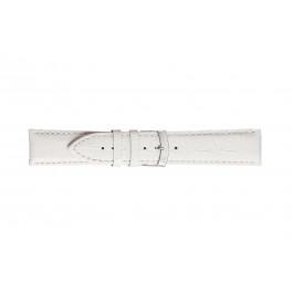 Morellato cinturino dell'orologio Extra X3395656017CR28 / PMX017EXTRA28 Pelle di coccodrillo Bianco 28mm + cuciture di default