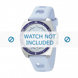 Cinturino per orologio ZO2230 Gomma Blu chiaro 20mm