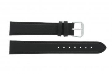 Cinturino orologio in vera pelle, nero, 10mm 054