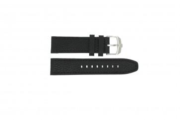 Swiss Military Hanowa cinturino dell'orologio 06-4224.04.007 Pelle Nero 22mm + cuciture nero