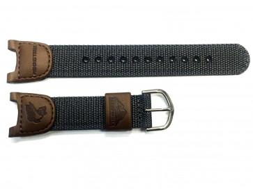 Casio cinturino dell'orologio 10113394 /  2632 / PAS-400B Nylon/perlon Marrone + cuciture di default