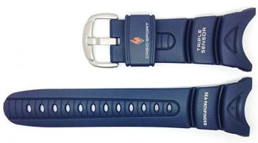 Cinturino per orologio Casio 10158454 Plastica Blu 24mm