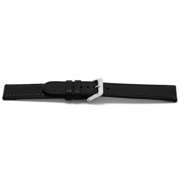 Cinturino orologio in pelle, nero, 22mm EX-H113