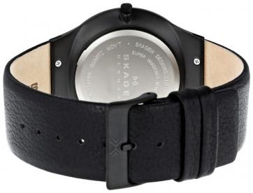Skagen cinturino dell'orologio 234XXLTLB Pelle Nero 27mm