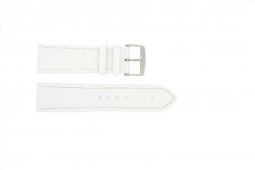 Cinturino orologio in vera pelle, bianco, 18mm 283