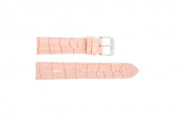 Cinturino orologio in vera pelle di coccodrillo, rosa, 24mm PVK-285
