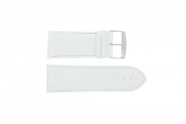 Cinturino orologio in pelle di vitello di bufalo, bianco, 24mm 305