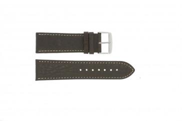 Cinturino dell'orologio 307.02 XL Pelle Marrone 24mm + cuciture bianco