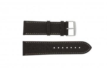Cinturino dell'orologio 307.02 Pelle Marrone 24mm + cuciture bianco