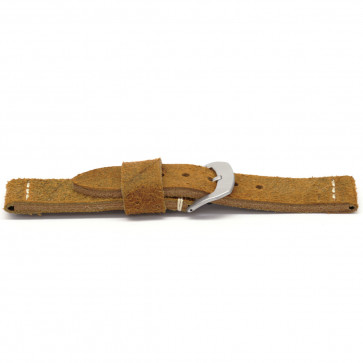 Cinturino per orologio Universale H327 Pelle Marrone 22mm