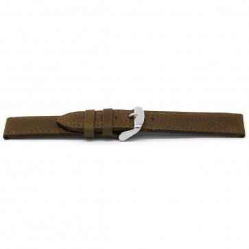 Cinturino dell'orologio D329 Pelle Marrone 14mm + cuciture di default
